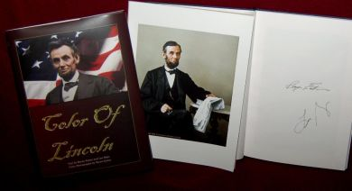 Color of Lincoln book with Print, signed